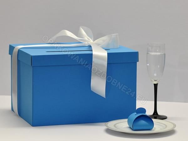 pudełko na koperty - niebieskie