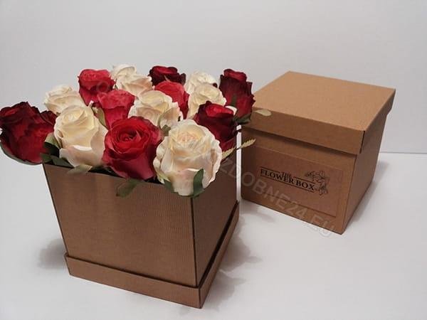 pudełko eko na kwiaty