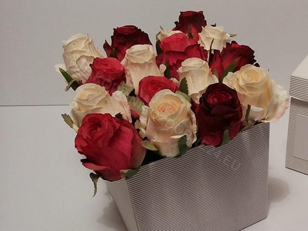 pudełko na kwiaty - białe