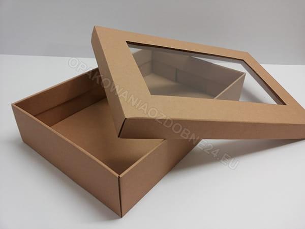 pudełka z okienkiem, eko na pościel