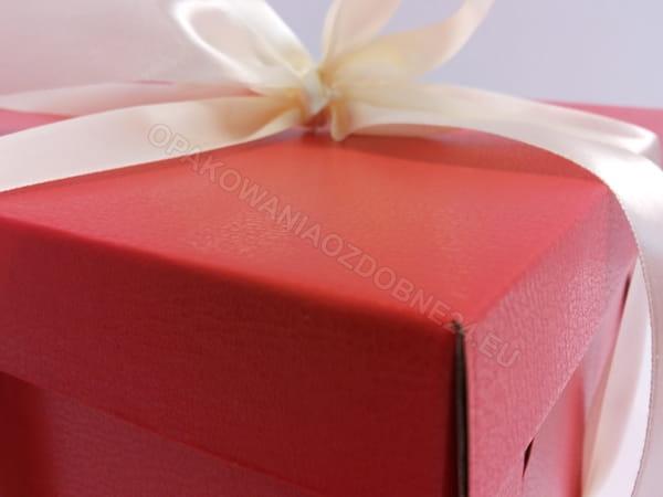 czerwone pudełko eko skóra